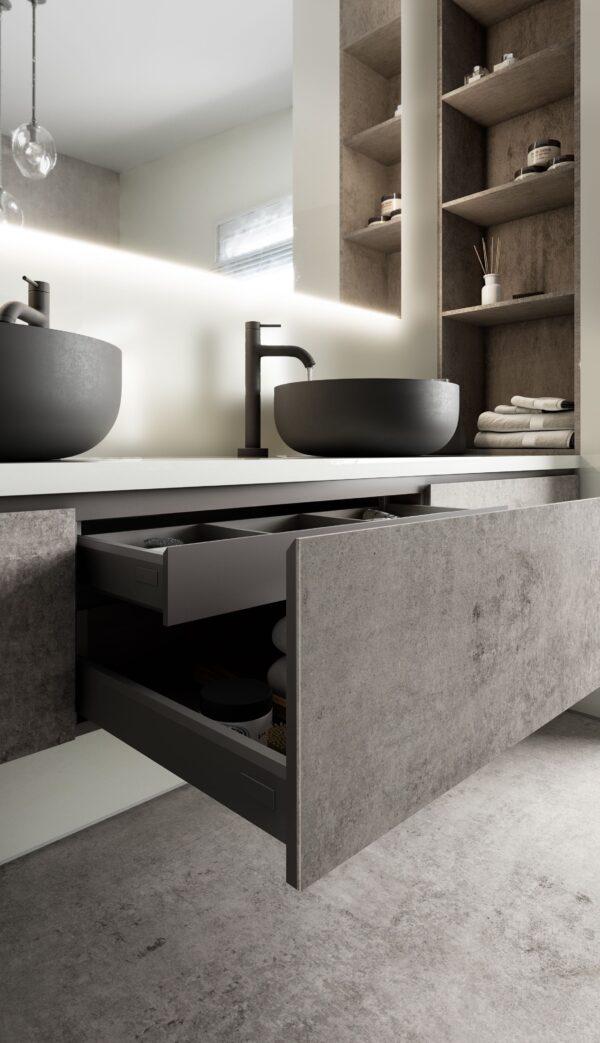 Image of Dekton slim badkamer in Small bathrooms: the great secrets of their design - Cosentino