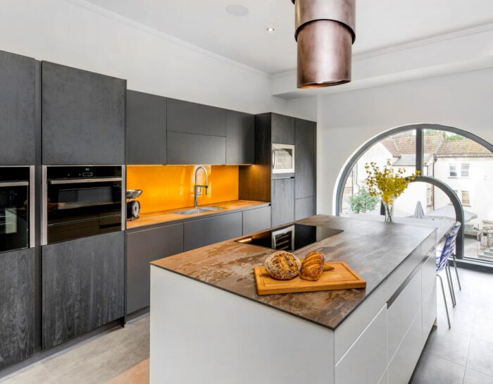 Image of Elmore Kitchens Showroom Dekton Trilium in Kitchen Decor Trends -The Uncommon Elegance of Bianco Antico Granite - Cosentino