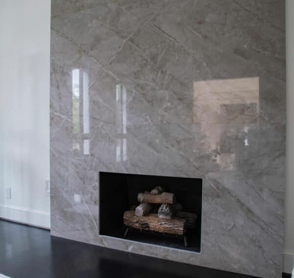 Image of Houston Show House Fireplace Dekton Stonika Sogne 2 in The welcoming warmth of home that only a fireplace can offer - Cosentino