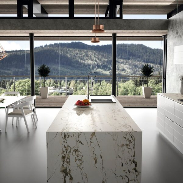 Image of RS11284 Dekton Kitchen Bedrock lpr 1 in The best floors for kitchens - Cosentino
