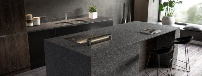 Image of Sensa Kitchen Graphite Grey lr 1 in Properties and types of granite – a material that is taking homes by storm - Cosentino