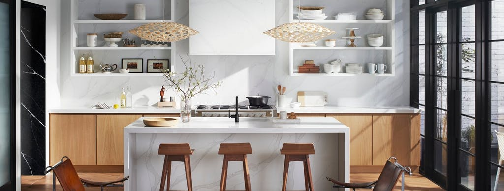 Image of Theresa Casey Organic Loft Silestone 1 in Kitchen walls: how to choose the best cladding - Cosentino
