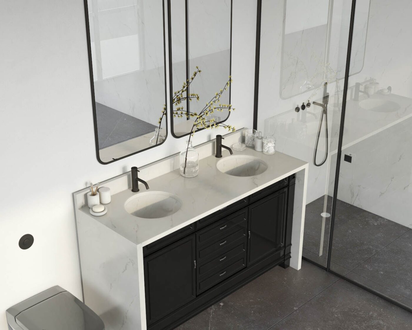 Image of Tundra 19 Bathroom.RGB color 1 in Small bathrooms: the great secrets of their design - Cosentino