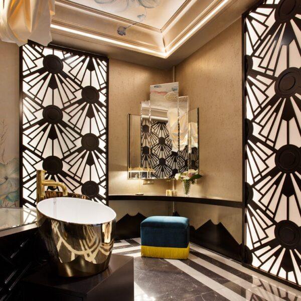 Image of casadecor2018 estudio viteri lapeña in Five cool design ideas for grey and white bathrooms - Cosentino
