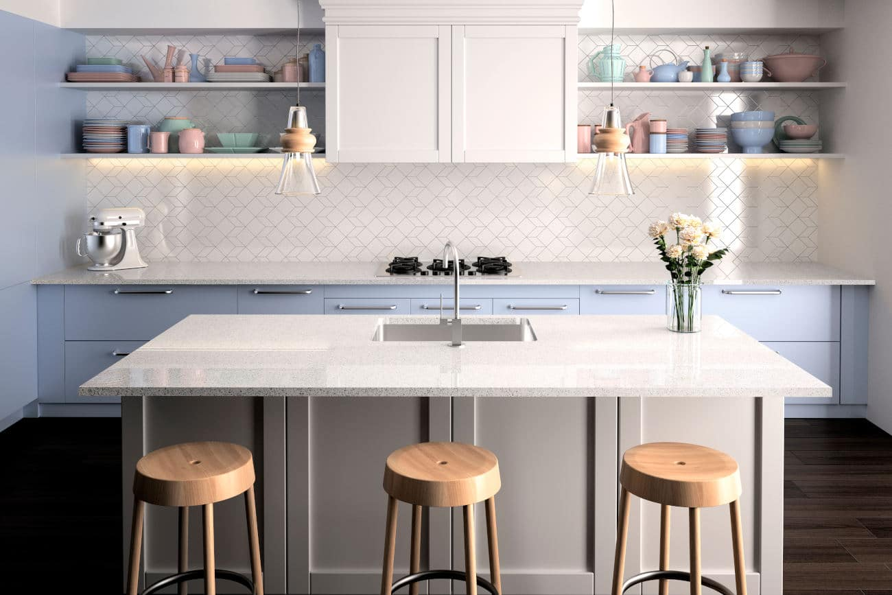 Image of cocina4 USA Moonstone in Design an American kitchen worthy of a movie set and feel like a star - Cosentino