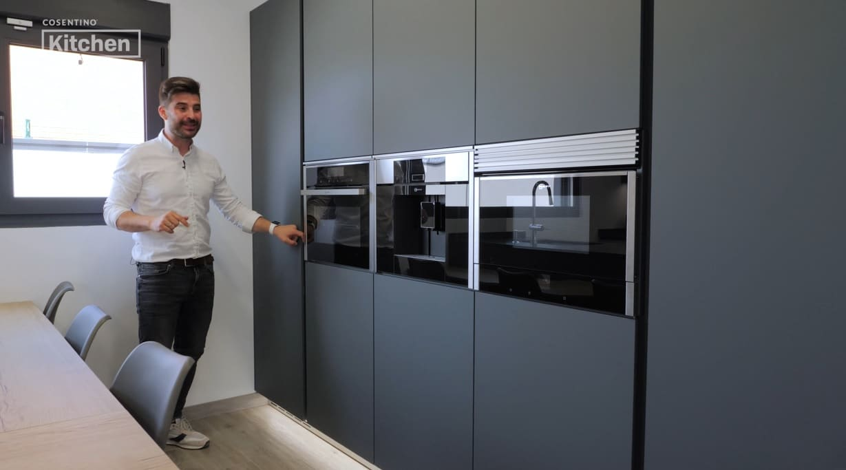 Image of KCo cocina con península in Peninsula kitchens have become a trend - Cosentino