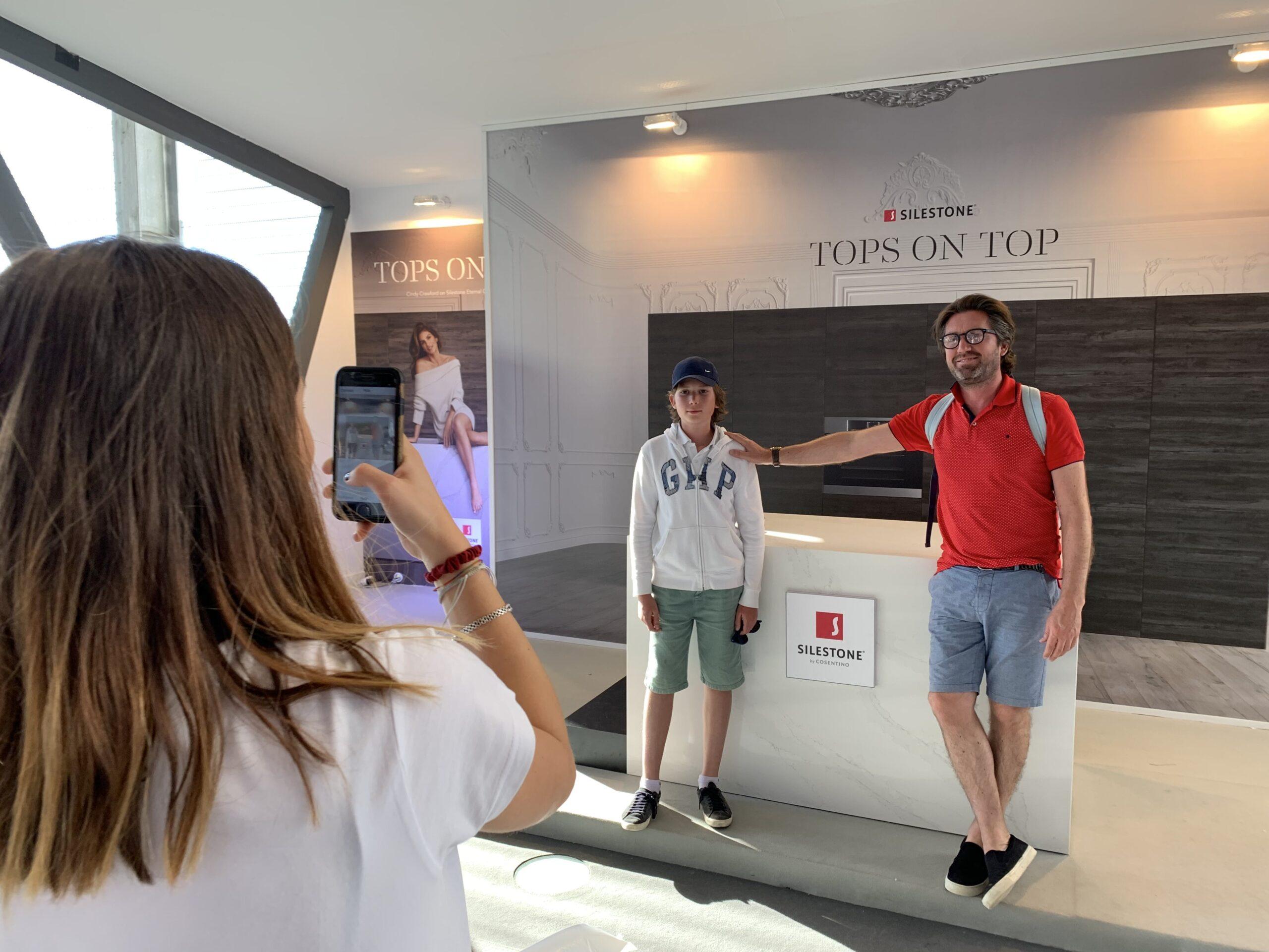 Image of Accion Tops On Top de Silestone en MMO 2019 1 1 scaled in Dekton® stars at the Mutua Madrid Open - Cosentino