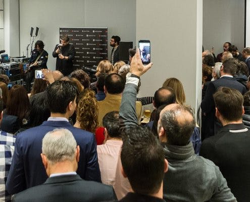 "Image of Antonio Orozco Inaguracion Cosentino City 2 495x400 2 5 in Madrid welcomes Cosentino Group´s first ""City"" in Spain - Cosentino"