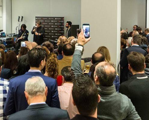 "Image of Antonio Orozco Inaguracion Cosentino City 2 495x400 2 6 in Madrid welcomes Cosentino Group´s first ""City"" in Spain - Cosentino"