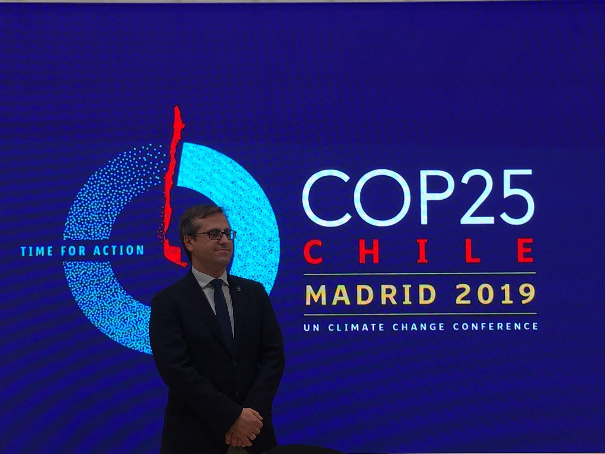 Image of Antonio Urdiales Director Medio Ambiente Cosentino COP25 3 1 in Cosentino demonstrates its sustainability policy at COP25 - Cosentino