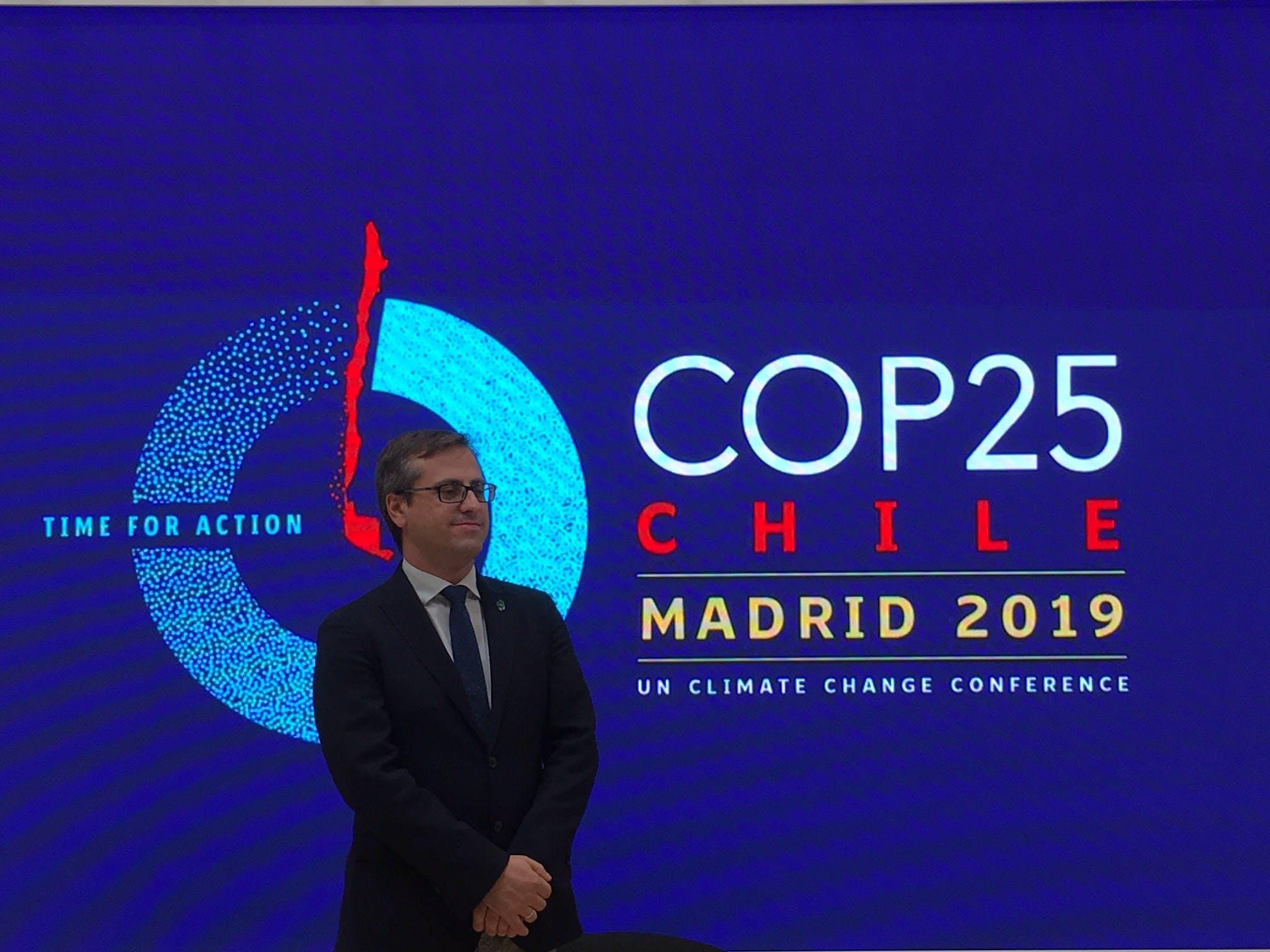 Image of Antonio Urdiales Director Medio Ambiente Cosentino COP25 3 2 in Cosentino demonstrates its sustainability policy at COP25 - Cosentino