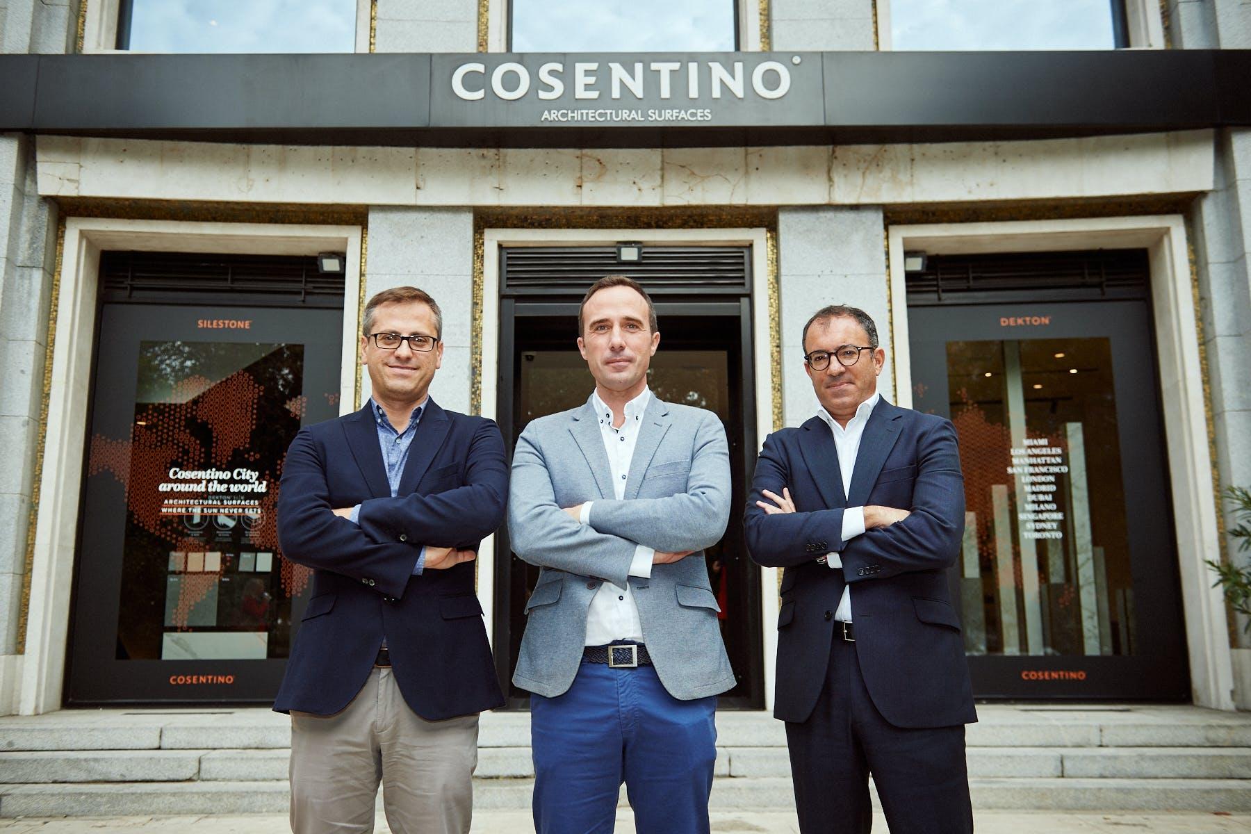 Image of Antonio Urdiales Julio Martin Ivan Martin evento Cosentino City Madrid 1 in Cosentino talks about the future of Purchasing - Cosentino