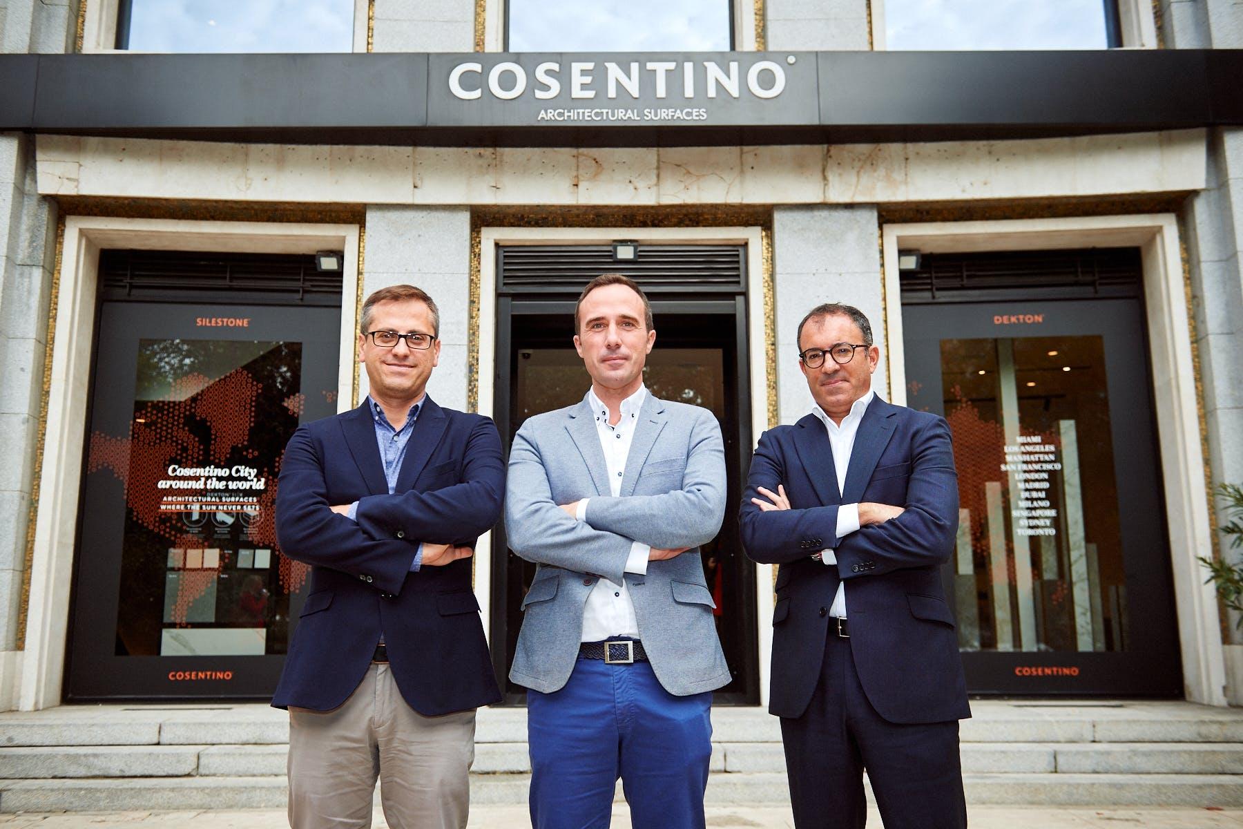 Image of Antonio Urdiales Julio Martin Ivan Martin evento Cosentino City Madrid 2 in Cosentino talks about the future of Purchasing - Cosentino