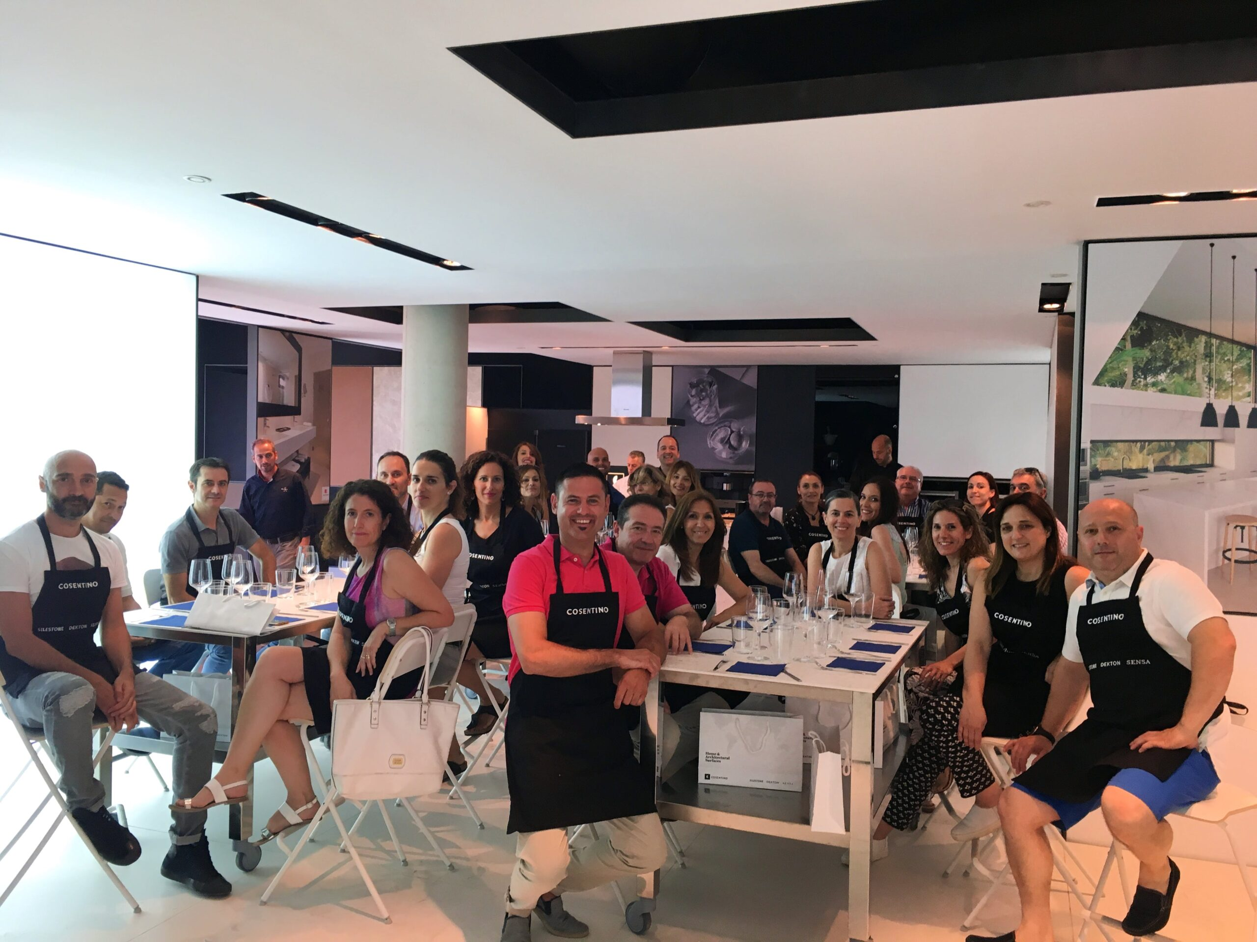 Image of Aula Showcooking en Cosentino Valencia Center 2 scaled in Cosentino brings together more than 2,000 k&b professionals - Cosentino