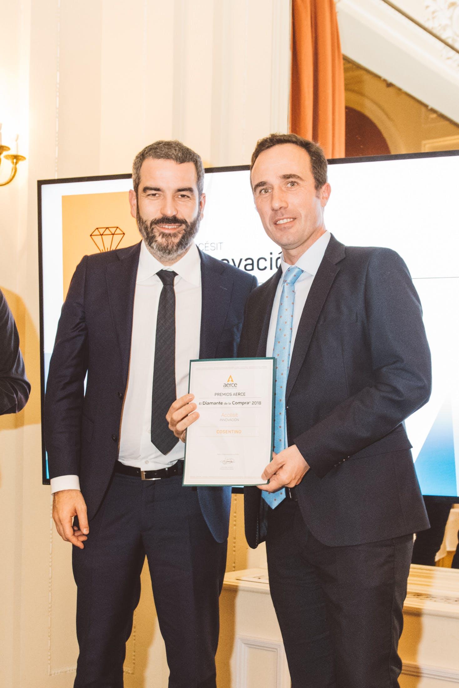 Image of Cosentino Premios Aerce Premiosdiamante 1 in Cosentino Purchasing department honoured twice - Cosentino