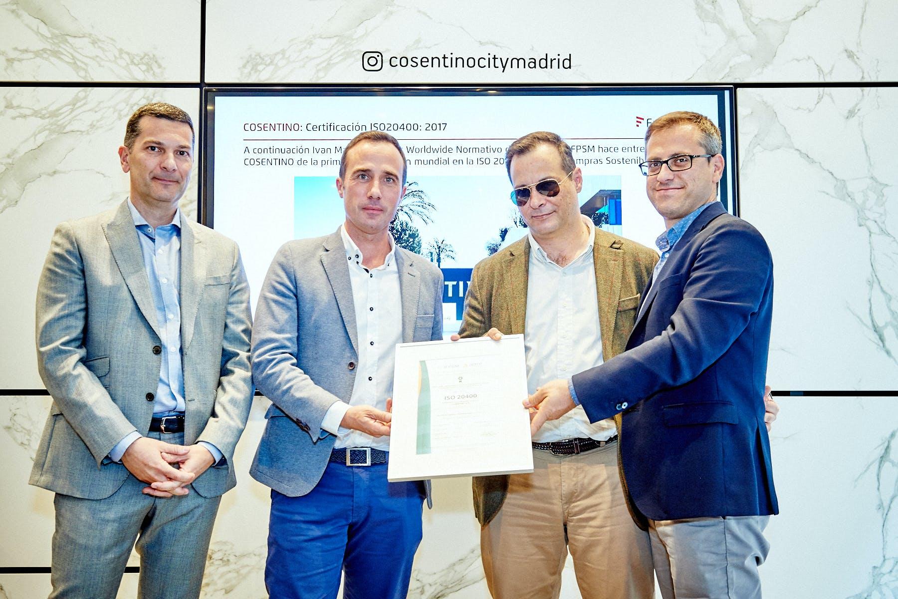 Image of Cosentino obtiene certificado ISO 20400 1 in Cosentino talks about the future of Purchasing - Cosentino