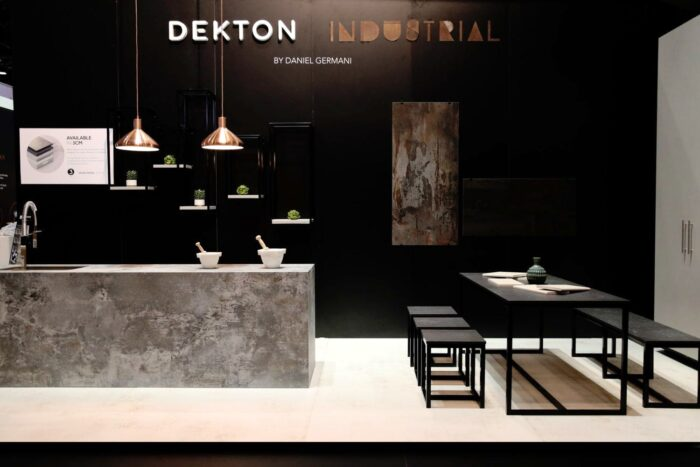 """Image of Dekton Industrial Stand Cosentino KBIS 2018 lr 1500x1000 6 in Madrid welcomes Cosentino Group´s first """"City"""" in Spain - Cosentino"""
