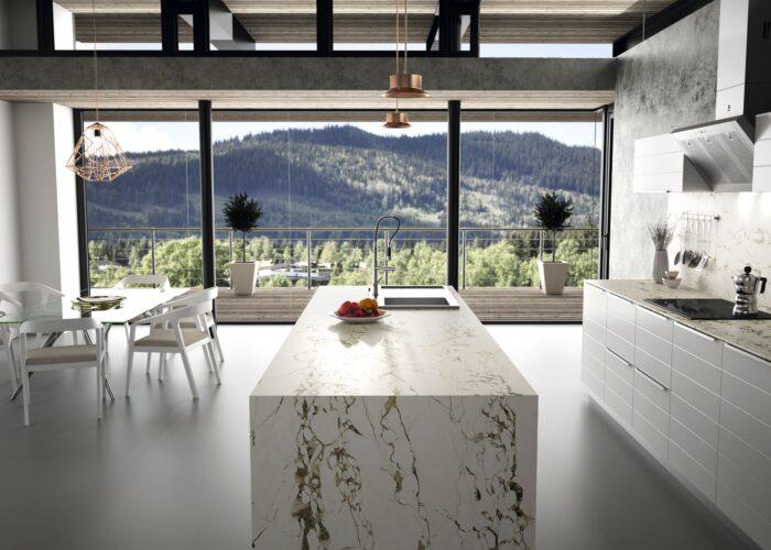 Image of Dekton Kitchen Bedrock 1 2 in Key points in choosing the correct sink - Cosentino