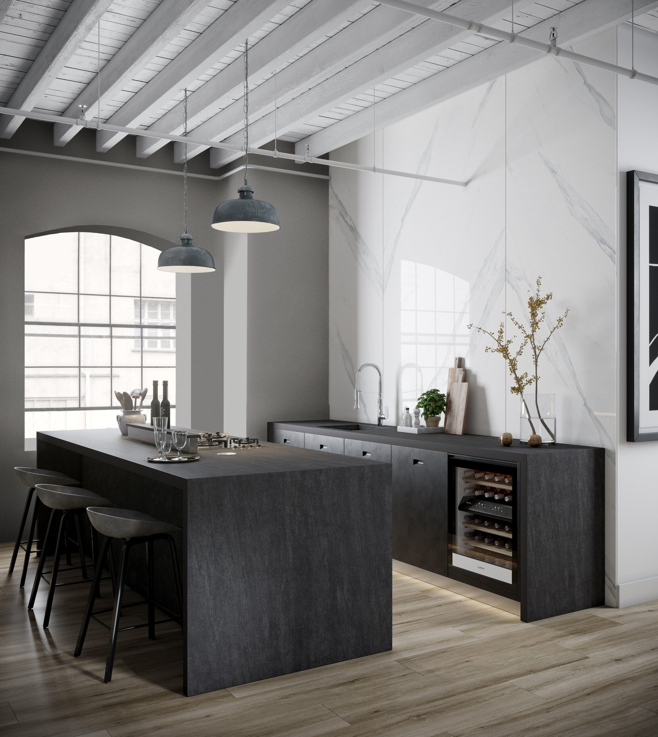 Image of Dekton Kitchen Bromo 3 2 1 scaled in The Top 7 Kitchen Makeover Trends - Cosentino