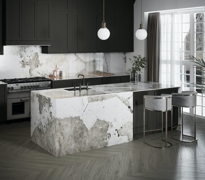 Image of Dekton Kitchen Khalo web 1 in Kitchen walls: how to choose the best cladding - Cosentino