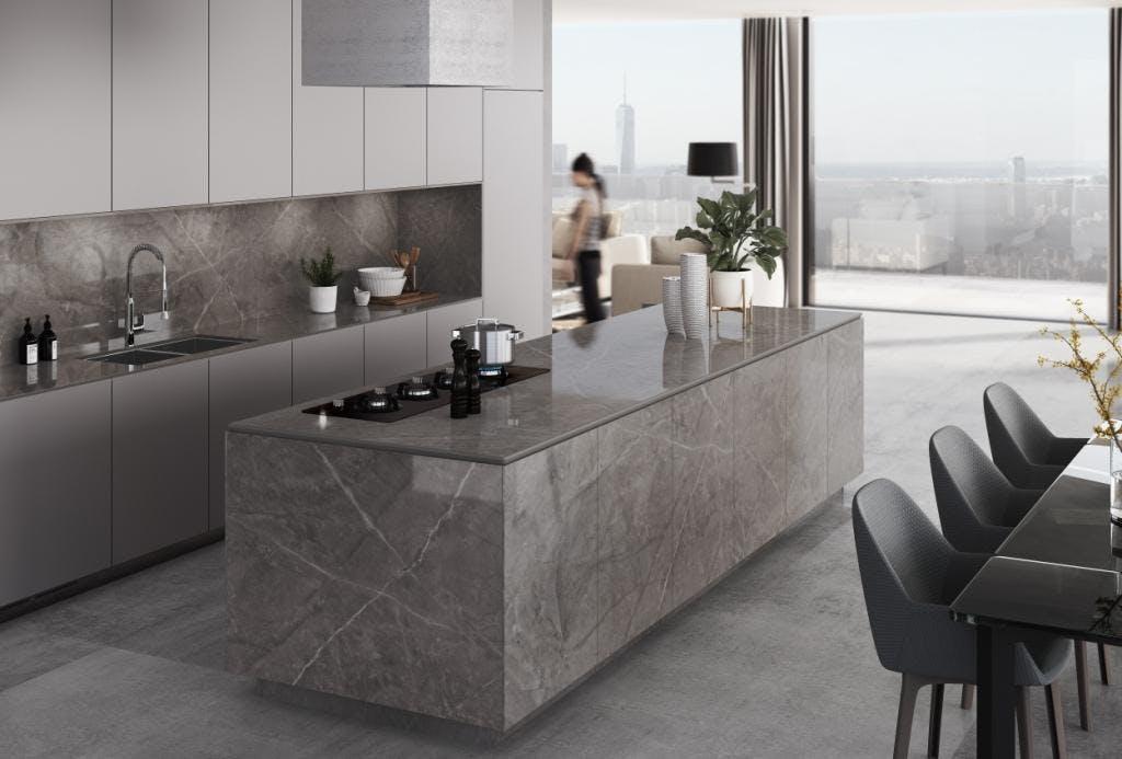 Image of Dekton Kitchen Korso Stonika bx 1 in Modular kitchens: practical and versatile - Cosentino