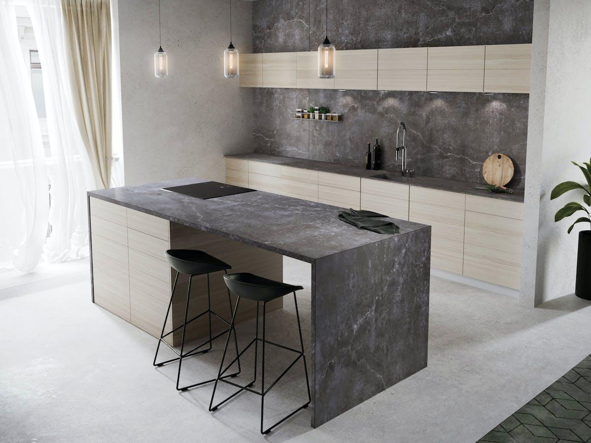 """Image of Dekton Kitchen Laos kopie in New Dekton® and Silestone® colours: """"cement"""" and """"natural"""" trends - Cosentino"""