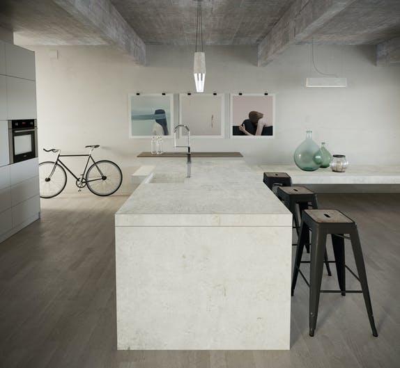 Image of Dekton Kitchen Lunar 1 in Dekton Industrial wins Popular Choice Vote in 2018 Architizer A+ Awards - Cosentino