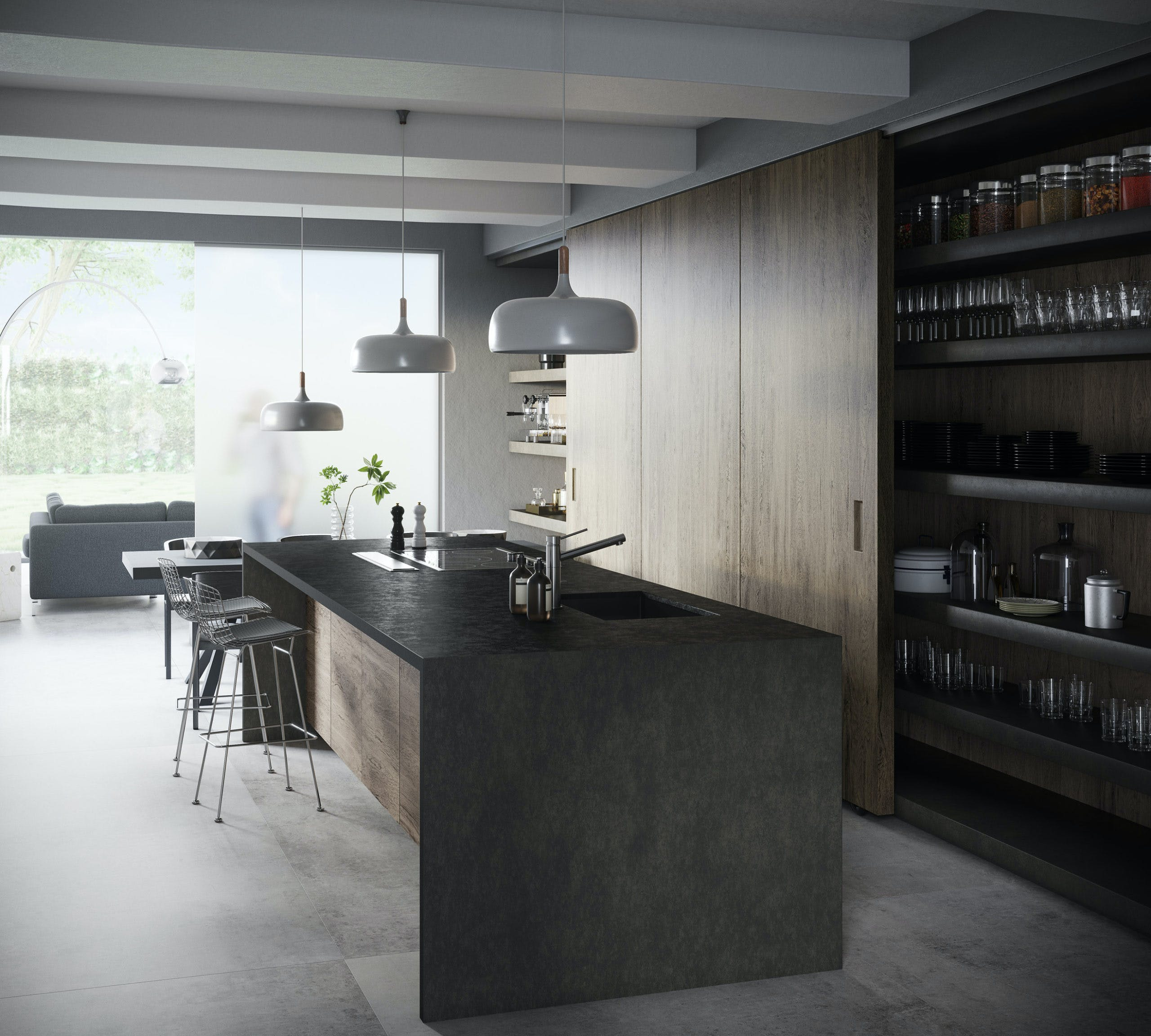 Image of Dekton Kitchen Milar Resized 1 scaled 1 in How to organise your kitchen and keep it that way - Cosentino