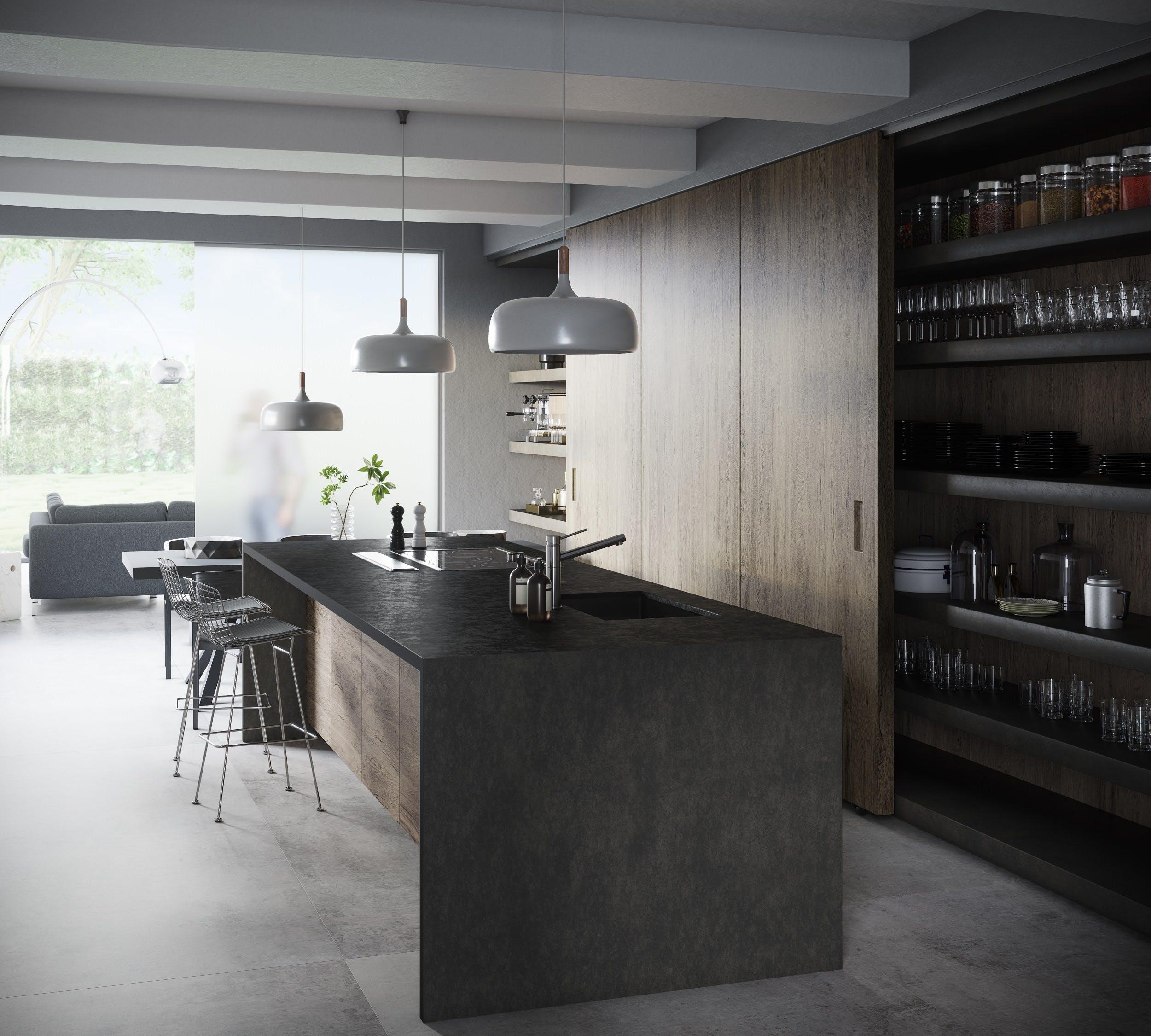 Image of Dekton Kitchen Milar lr 1 in Dekton® Bromo and Milar - Cosentino