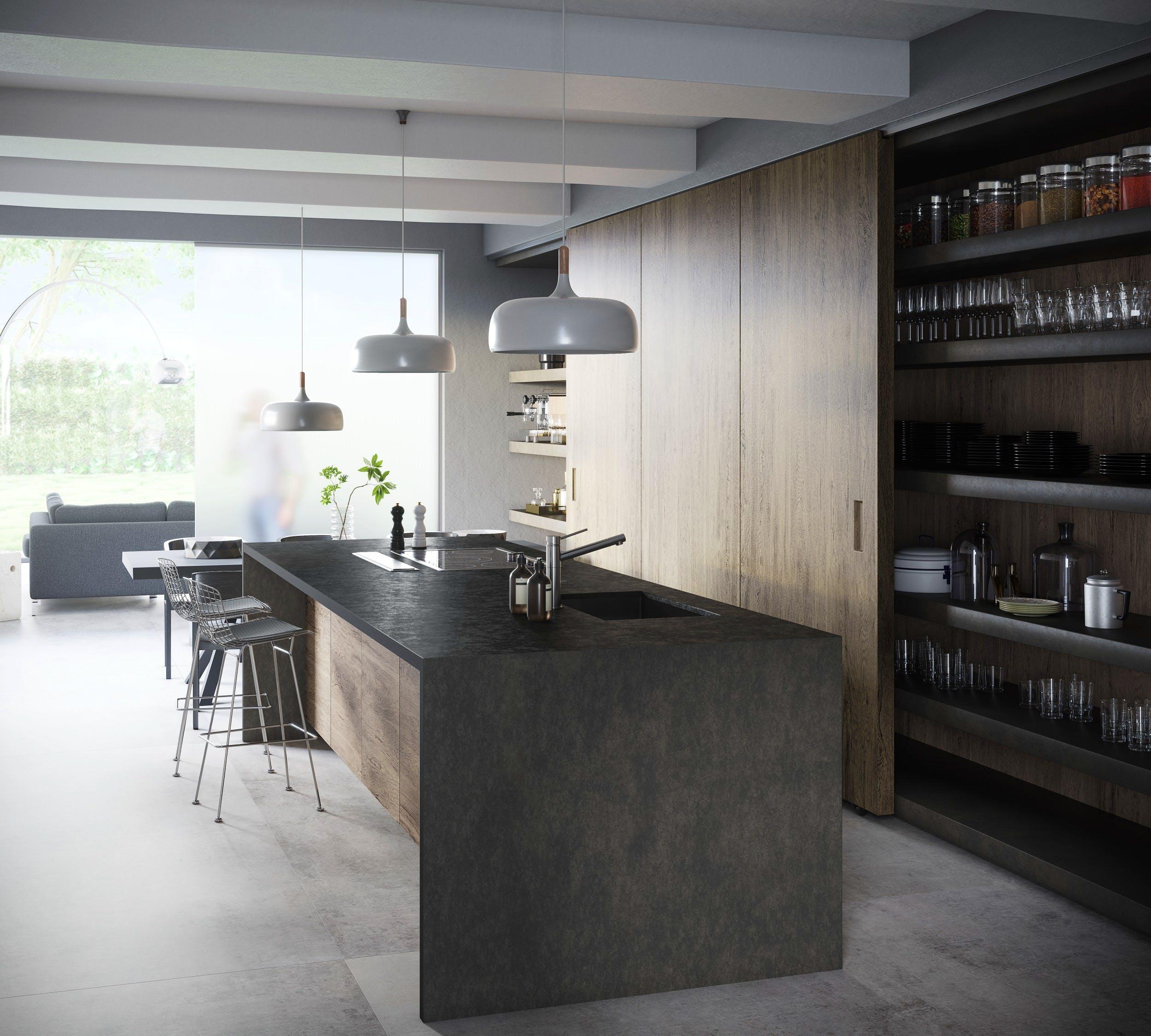 Image of Dekton Kitchen Milar lr 2 in Dekton® Bromo and Milar - Cosentino