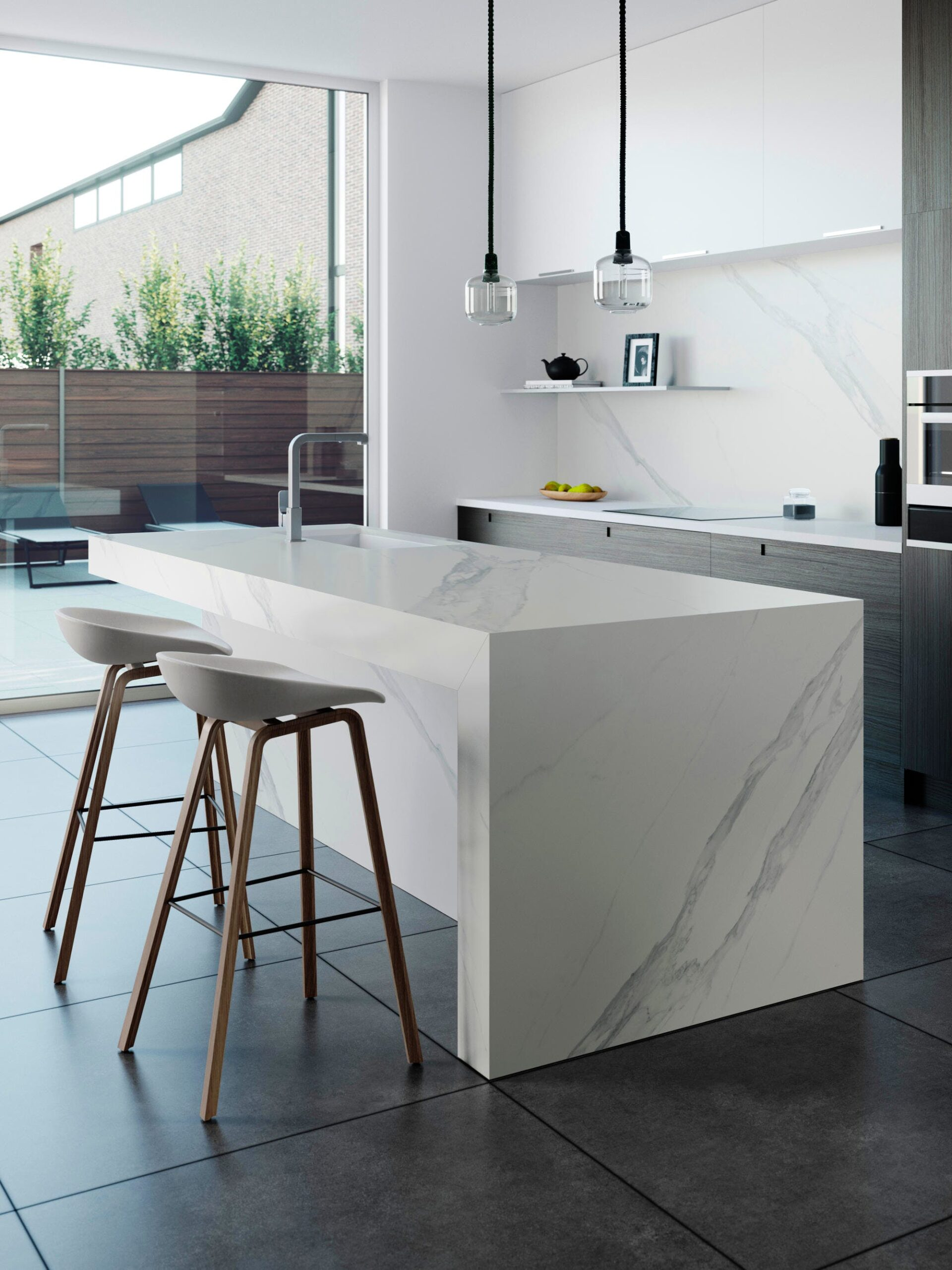 Image of Dekton Kitchen Opera 2 scaled in The Purity and Architectural Beauty of Travertine Marble - Inspiring Luxury Materials - Cosentino