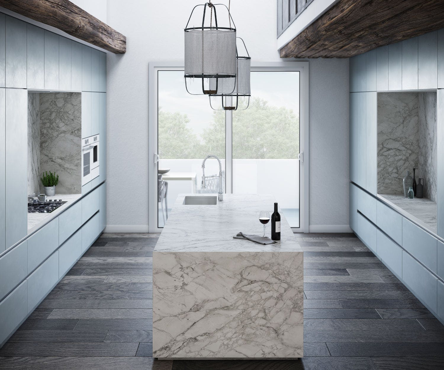 Image of Dekton Kitchen Portum Velvet 1 in Compact kitchens: Who says they're a disadvantage? - Cosentino