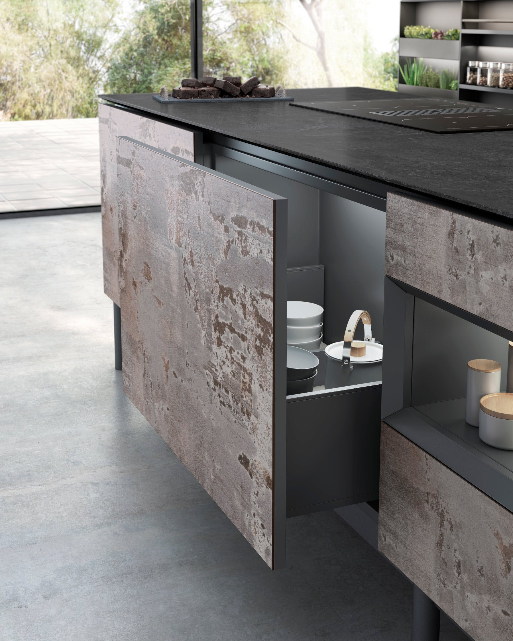 Image of Dekton Kitchen Trilium Detalle 1 1 in How to organise your kitchen and keep it that way - Cosentino