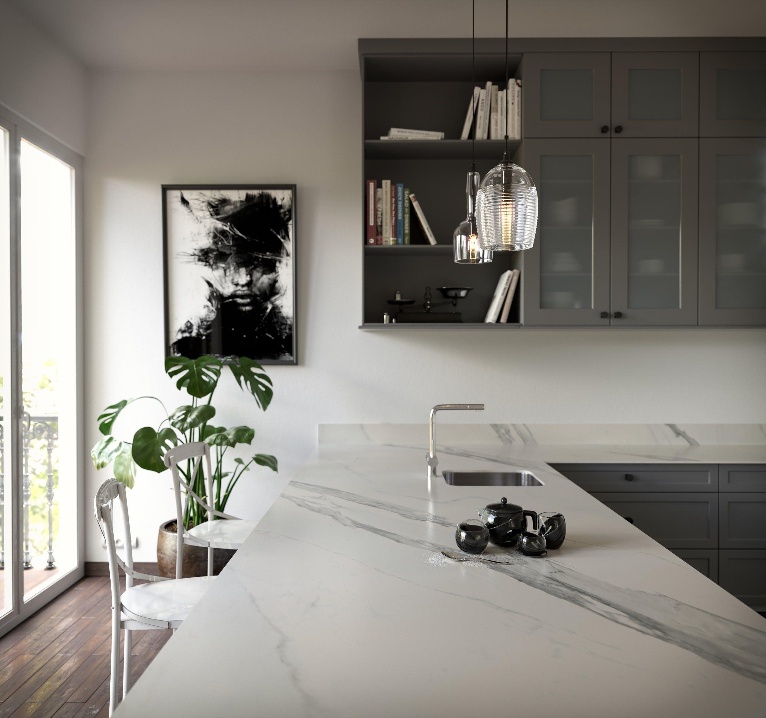 Image of Dekton Opera kitchen countertop lr 3 in Dekton® by Cosentino Introduces Opera and Natura - Cosentino