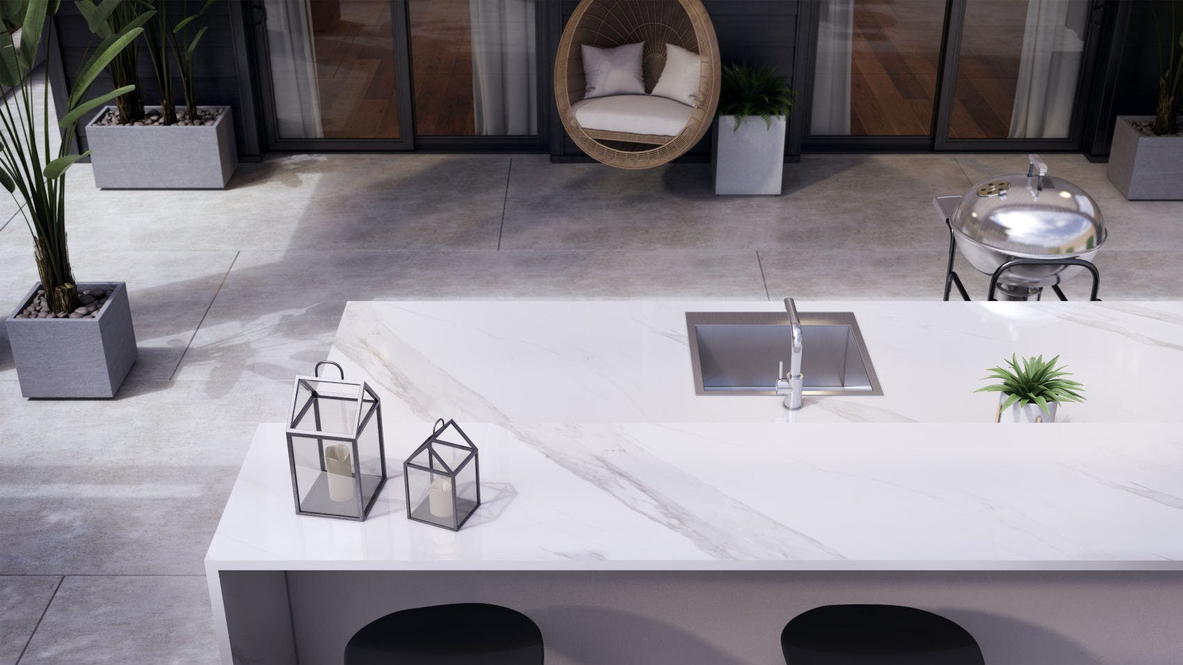 Image of Dekton Outdoor Countertop Olimpo Flooring Keon 1 1 in Nice weather: let's make the most of it! - Cosentino