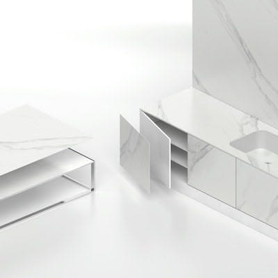 Image of Dekton Slim 4mm color Opera Cocina y Mobiliario 3 in Dekton Trilium Wins Silver in 2019 International Design Awards for Eco-Sustainable Design - Cosentino