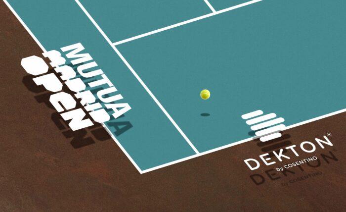 Image of Dekton by Cosentino Sponsor Mutua Madrid Open 2018 2 1 1 in Dekton®, the 'top' sponsor of the Mutua Madrid Open 2018 - Cosentino