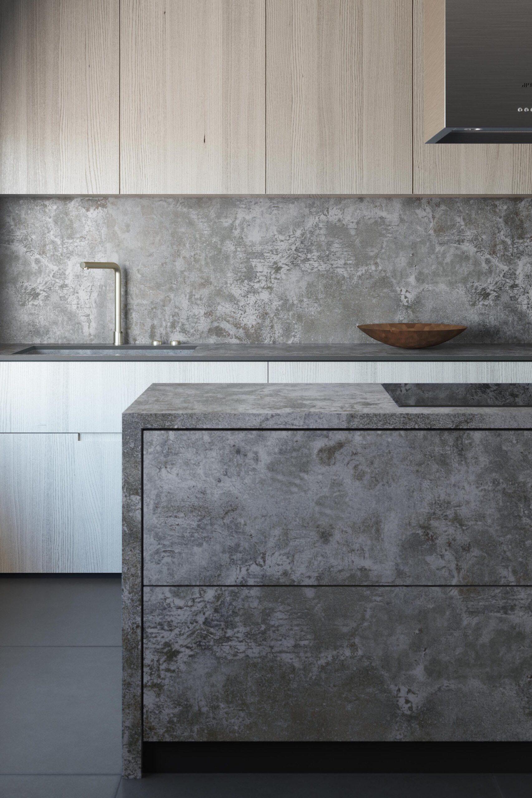 Image of Dekton Orix Kitchen copy 1 1 scaled in Dekton® Industrial Collection and DeKauri win 2018 GOOD DESIGN Award - Cosentino