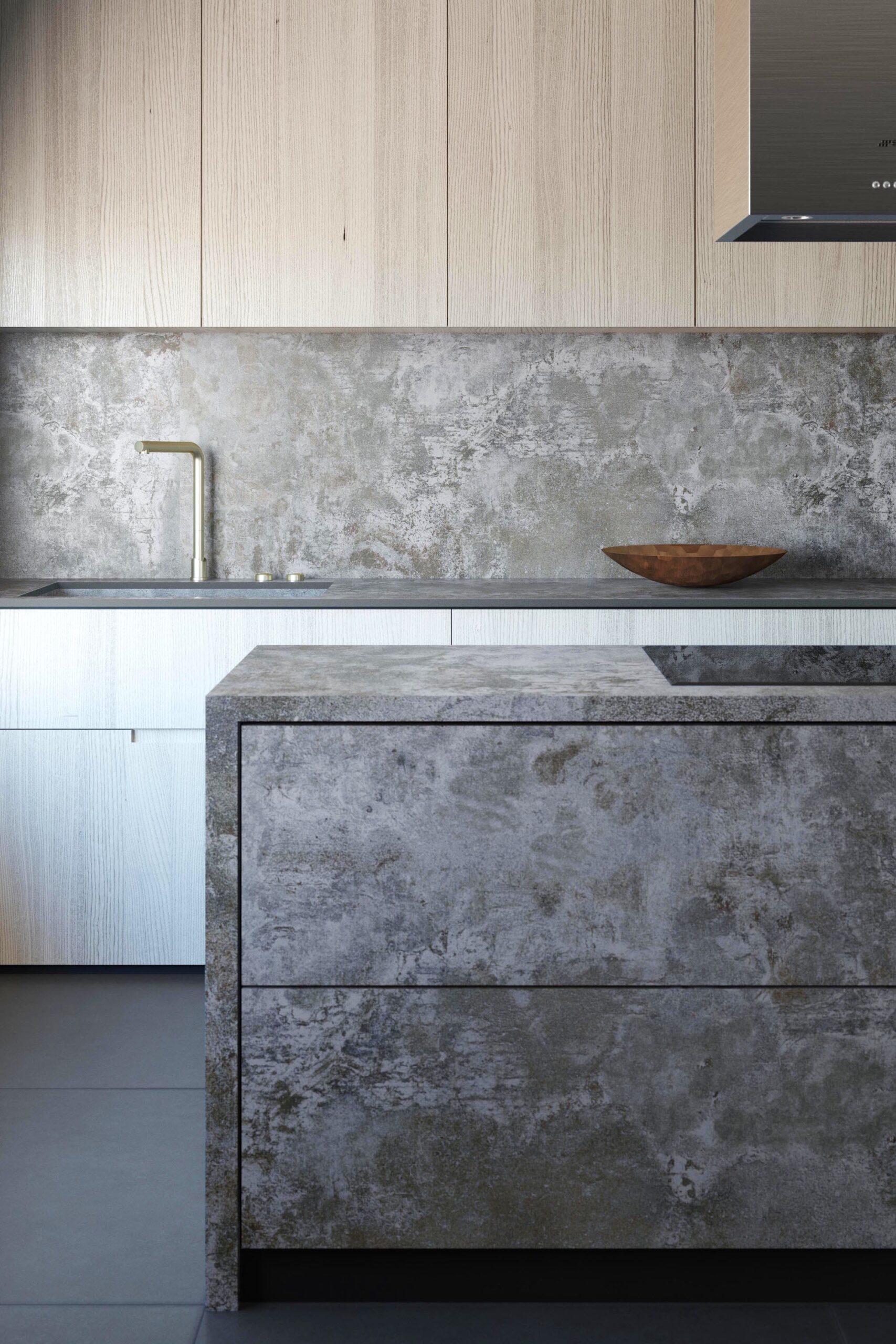 Image of Dekton Orix Kitchen copy 1 2 scaled in Dekton® Industrial Collection and DeKauri win 2018 GOOD DESIGN Award - Cosentino