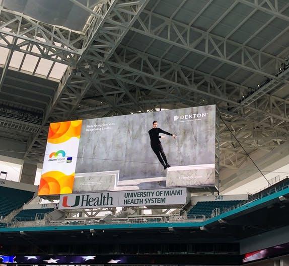 Image of Dekton Sponsor Miami Open 1 in Dekton by Cosentino announces sponsorship of 2019 Miami Open - Cosentino