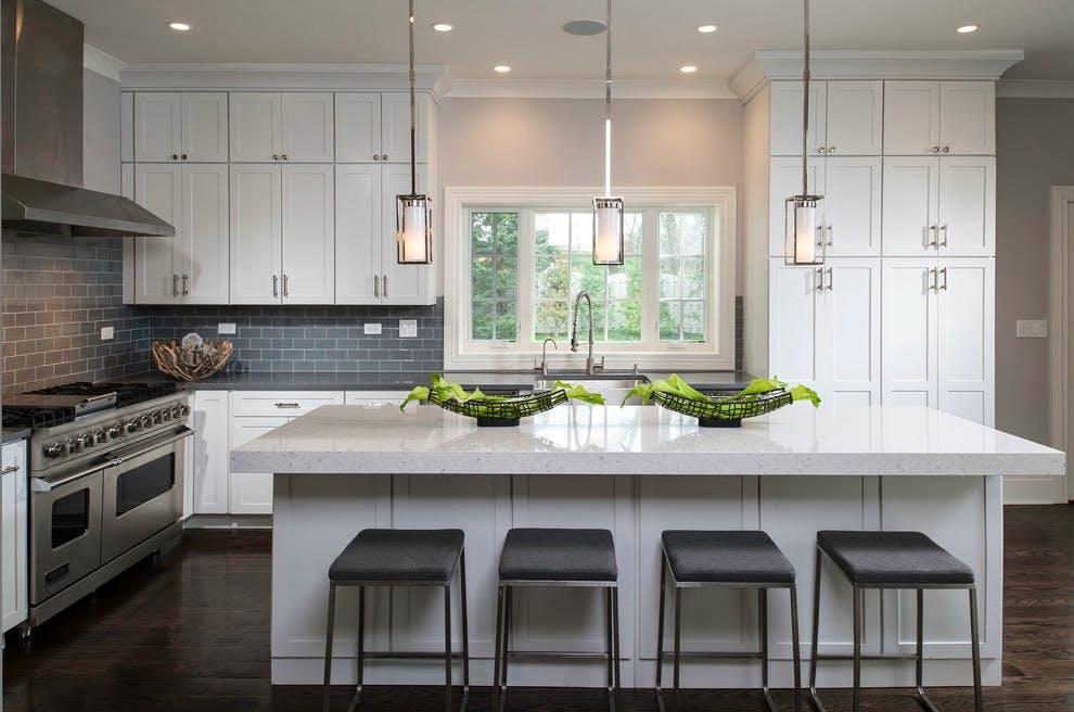 Image of Donna Mondi Interior Design Silestone Bianco River 3 2 6 in Luxury Kitchen Design - Italian Kitchen - Cosentino