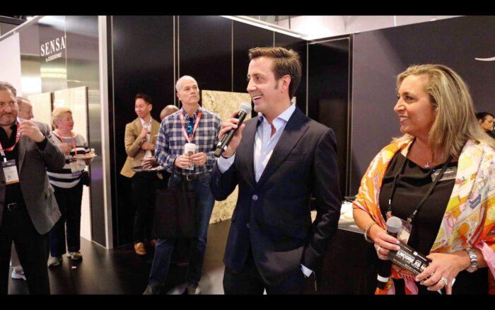 "Image of Eduardo Cosentino y Patty Dominguez Cosentino KBIS 2020 baja 2 in The best ""Elite"" shops in Europe visit Cosentino - Cosentino"