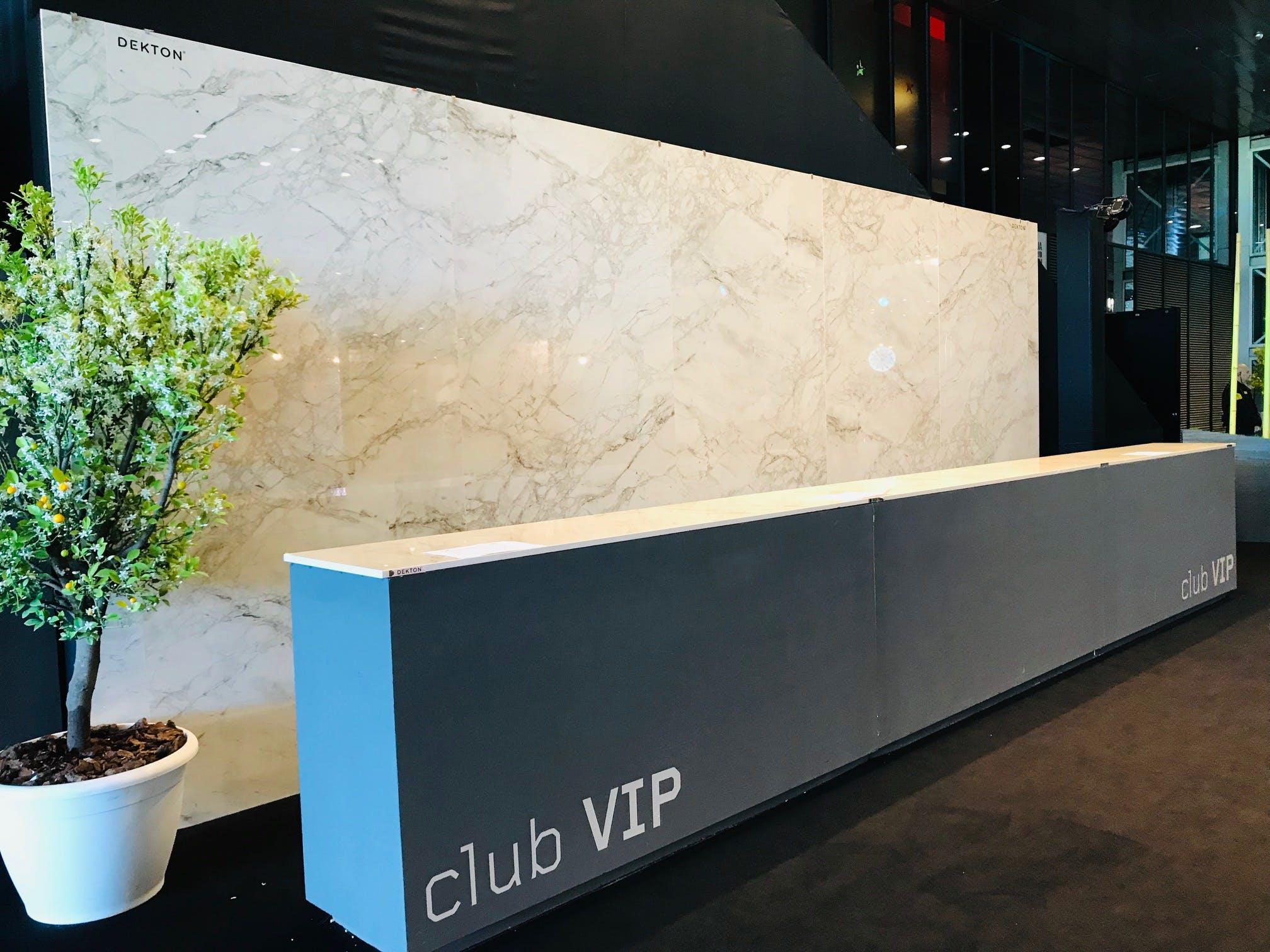 Image of Entrada Restauración VIP MMO 2019 con Dekton Bergen 1 in Dekton® stars at the Mutua Madrid Open - Cosentino