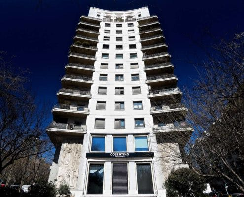 """Image of Fachada Cosentino City Madrid lr 495x400 2 3 in Madrid welcomes Cosentino Group´s first """"City"""" in Spain - Cosentino"""