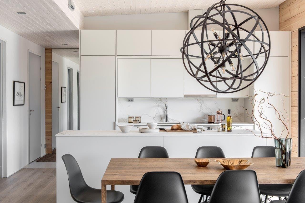Image of Finnish wooden house Cosentino 3 1 in Finnish Wood House with Silestone® Bathroom and Dekton® Kitchen - Cosentino