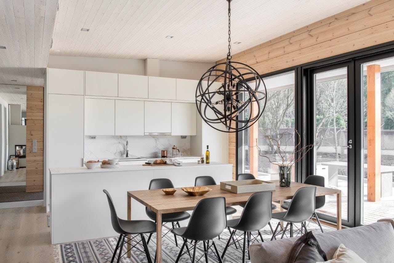 Image of Finnish wooden house Cosentino 4 1 in Finnish Wood House with Silestone® Bathroom and Dekton® Kitchen - Cosentino