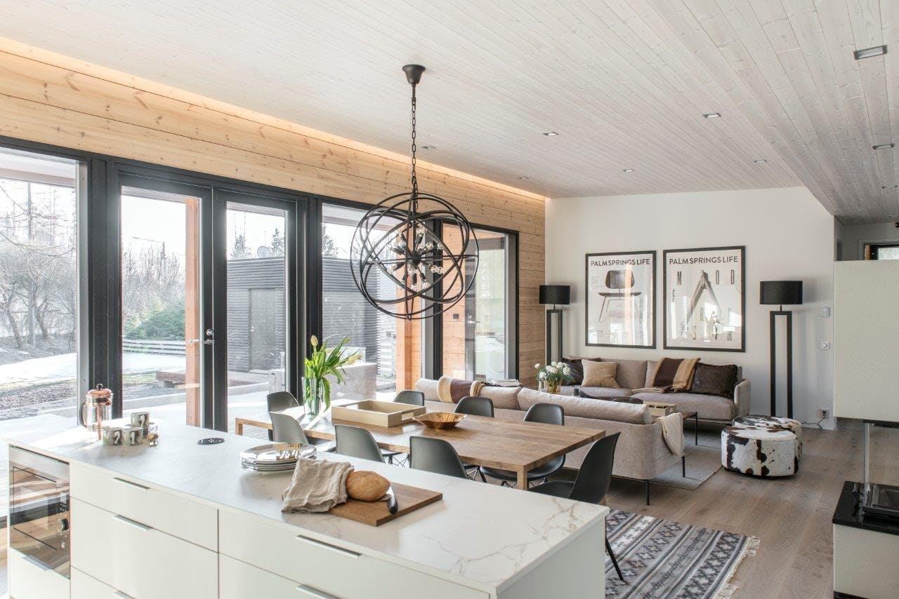 Image of Finnish wooden house Cosentino 5 1 in Finnish Wood House with Silestone® Bathroom and Dekton® Kitchen - Cosentino