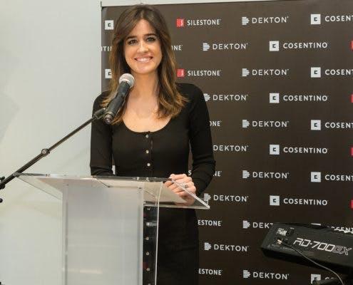 "Image of Isabel Jimenez presentadora acto Inauguracion Cosentino City 495x400 2 3 in Madrid welcomes Cosentino Group´s first ""City"" in Spain - Cosentino"