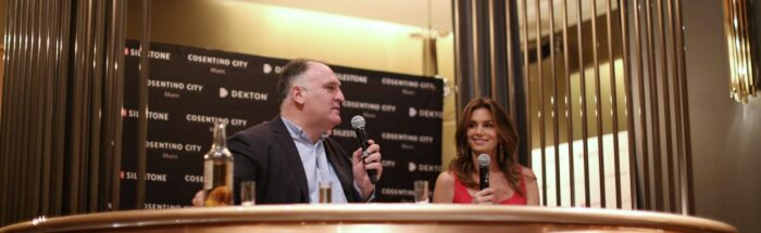 Image of Jose Andres y Cindy Crawford 1 2 in Silestone dazzles with Cindy Crawford and José Andrés - Cosentino