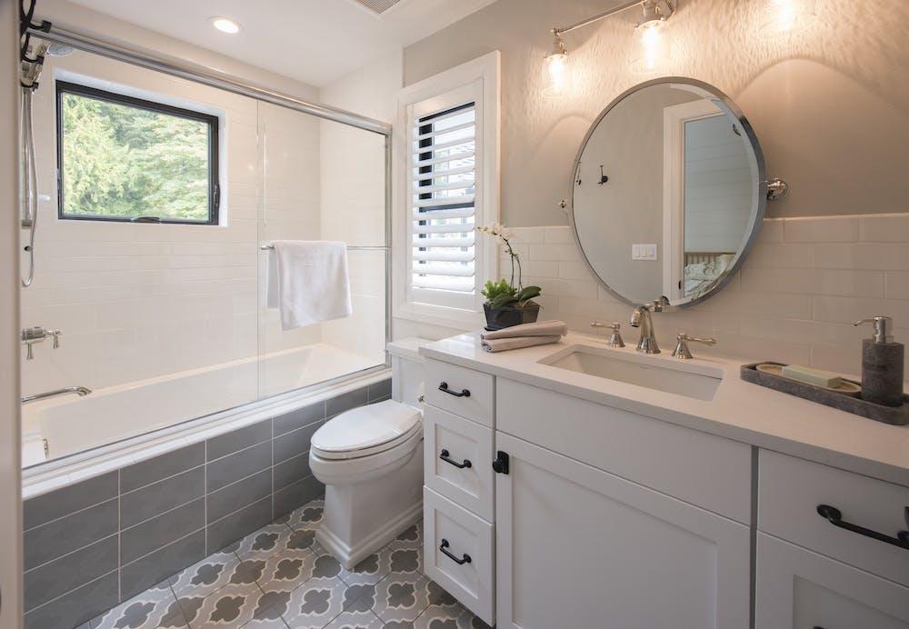 Image of Master Bath Silestone Statuario 1 in 2018 Northwest Idea House Features Dekton & Silestone Surfaces - Cosentino